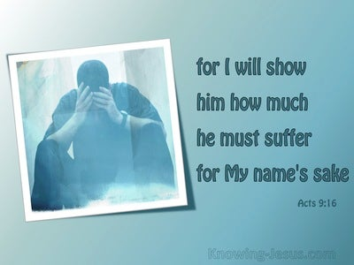 Acts 9:16 Suffering For My Names Sake (aqua)